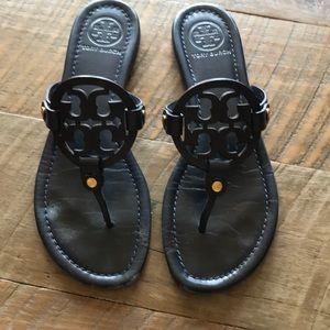 Tory Burch navy Miller sandals
